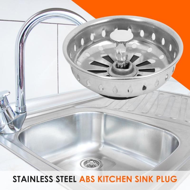 Multifunction Kitchen Tools Stainless Steel Kitchen Sink Stopper Plug Filter Cover Bathroom Basin Drain Kitchen Sink Accessories