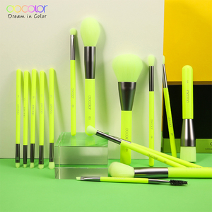 Image 5 - Docolor 15pcs Neon Makeup Brushes Tool Set Cosmetic Powder Foundation Eye Shadow Blush Blending Beauty Make Up Brush Maquiagem