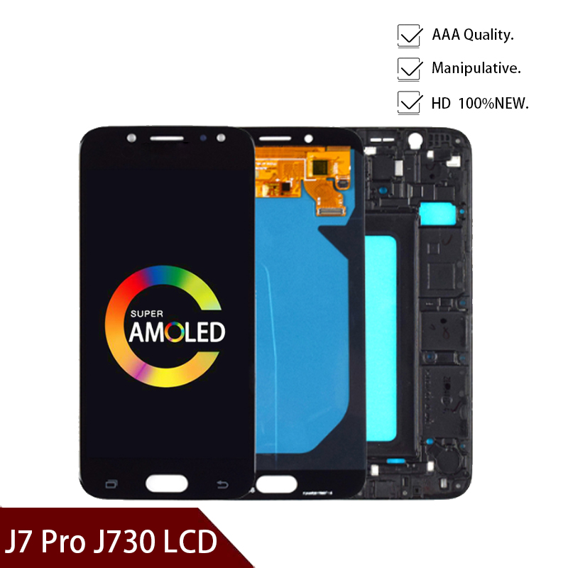5.5inch Super Amoled LCD For Samsung Galaxy J7 Pro 2017 J730 J730F LCD Display And Touch Screen Digitizer Assembly
