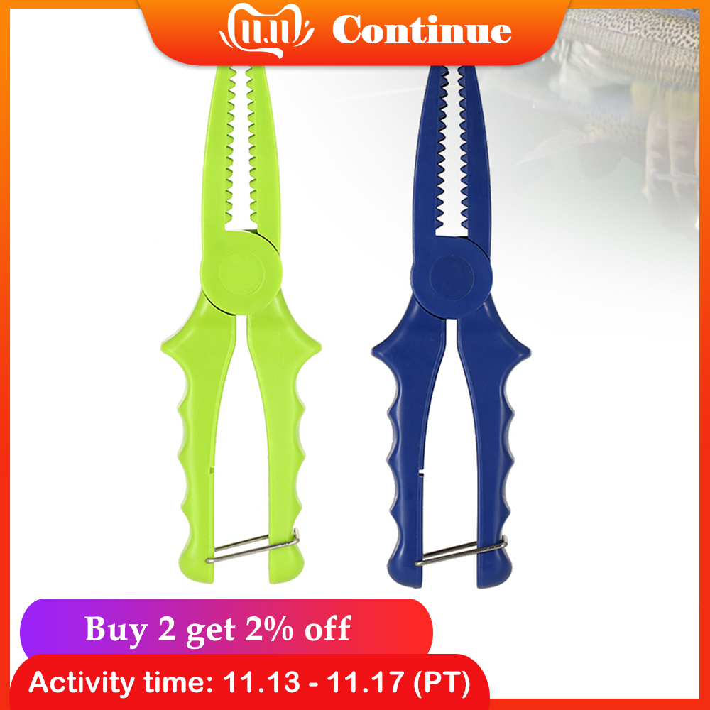 Lixada Fishing Pliers Plastic Fish Clamp Grip Catch Release Tool Fish Body Holder Tongs Scissors Fishing Pliers