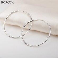 Женские серьги кольца из серебра 925% пробы 31 мм