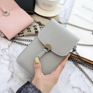 Кошелек для мобильного телефона с сенсорным экраном, кошелек для смартфона, кожаная Наплечная Сумка на ремне, Женская сумка для Iphone X Samsung S10 ...