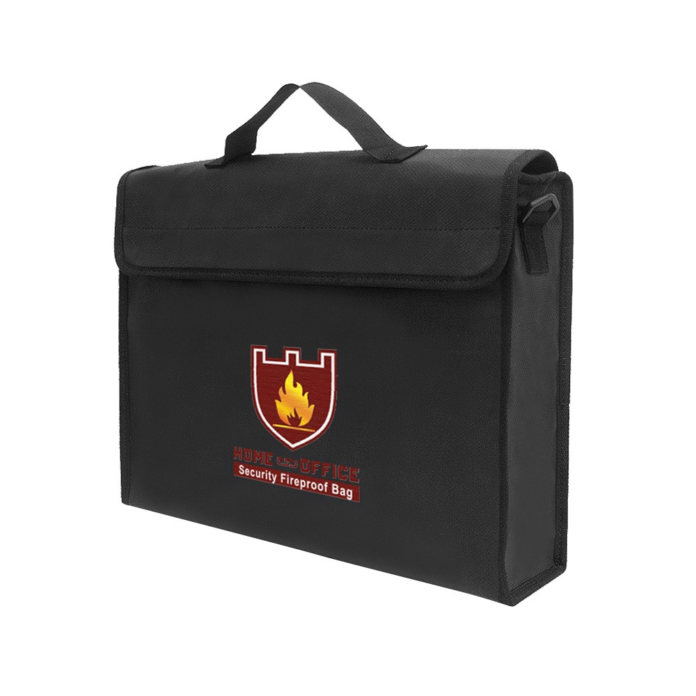 Fireproof Water Resistant Money Bag Safe Document Bag File Pouch Case File Pouch Case Security Fireproof File Bag