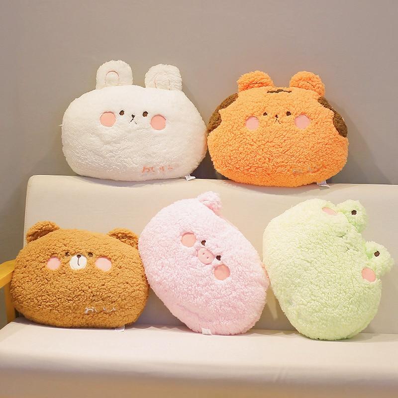 35cm kawaii Animal Teddy Bear Rabbit Frog Tiger Pig Plush Toys Cartoon Stuffed Soft Pillow Back Sofa Cushion for Girls Kids