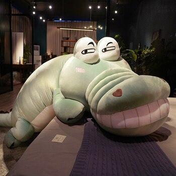 2020 Funny Cute Jumbo Crocodile Plush Toy Cartoon Dinosaur Doll Sleeping Pillow Sofa Tatami Great Gift Deco 180cm 300cm DY50790