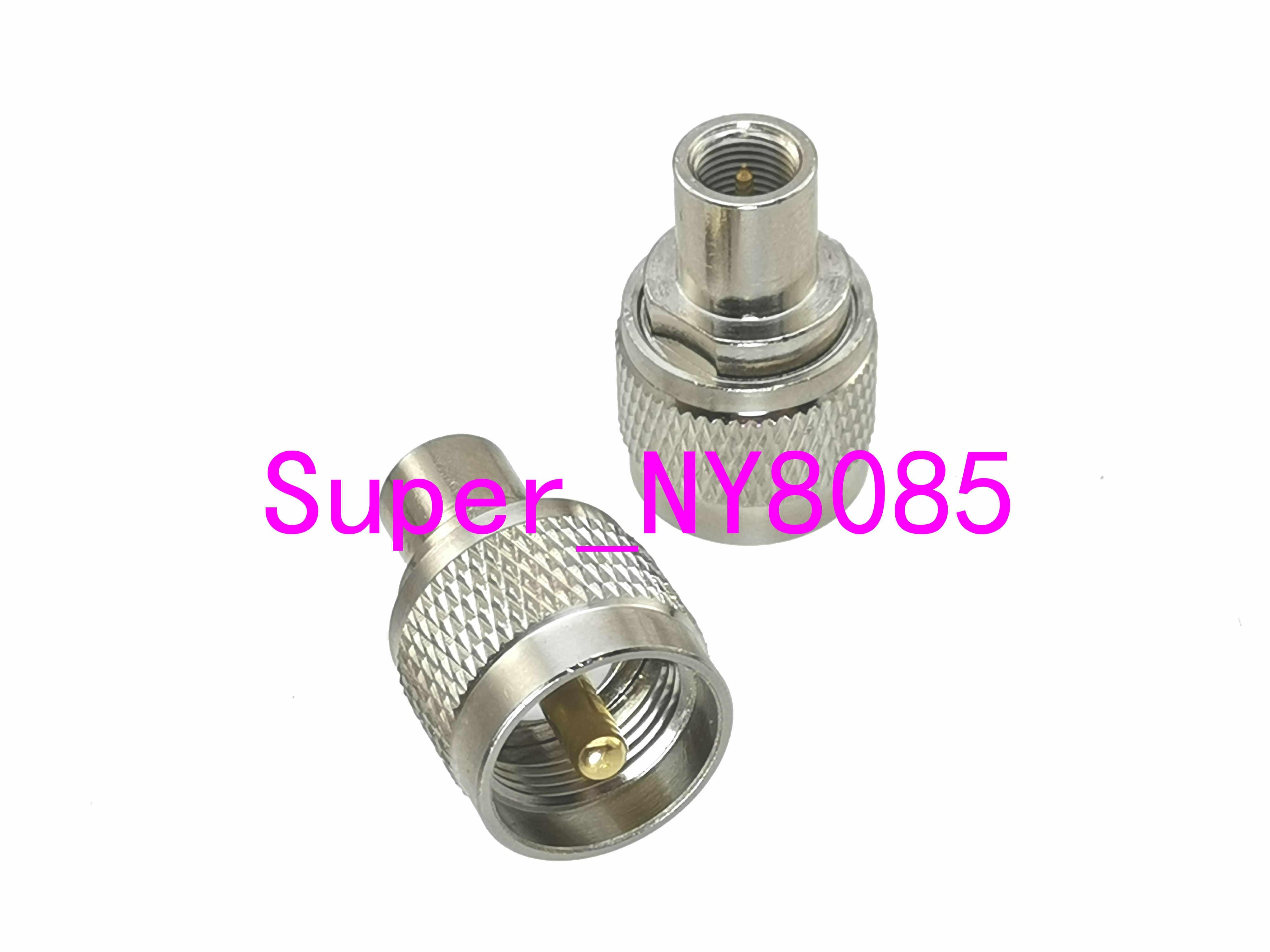 1pce FME Male Plug to miniUHF Female Jack RF Coax Adapter Connector Straight
