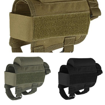 tactical buttstock shotgun rifle stock ammo portable pouch shell cartridge holder pouch holder cheek leather pad Nylon Tactical Rifle Cheek Rest Riser Pad Ammo Cartridges Holder Carrier Canvas Pouch Round Cartridge bag shell Buttstock Ammo
