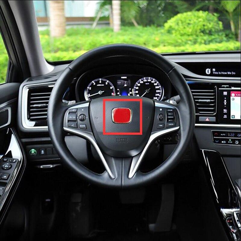 Colorful H J's Emblem Badge For Honda Civic Accord Odyssey Spirior City Jade Car Styling Steering Wheel Center Metalism Sticker