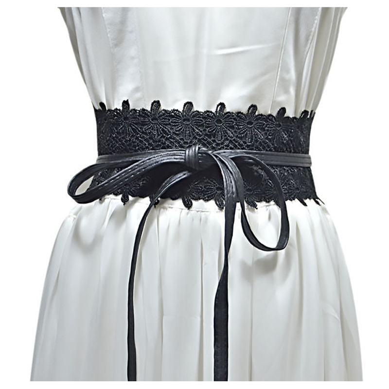 Women Lace Up Belt New Tie Bow Belts for Women Wide Waistband Female Dress Fashion Ties Bow Ladies Dress Decoration 2021 Adult