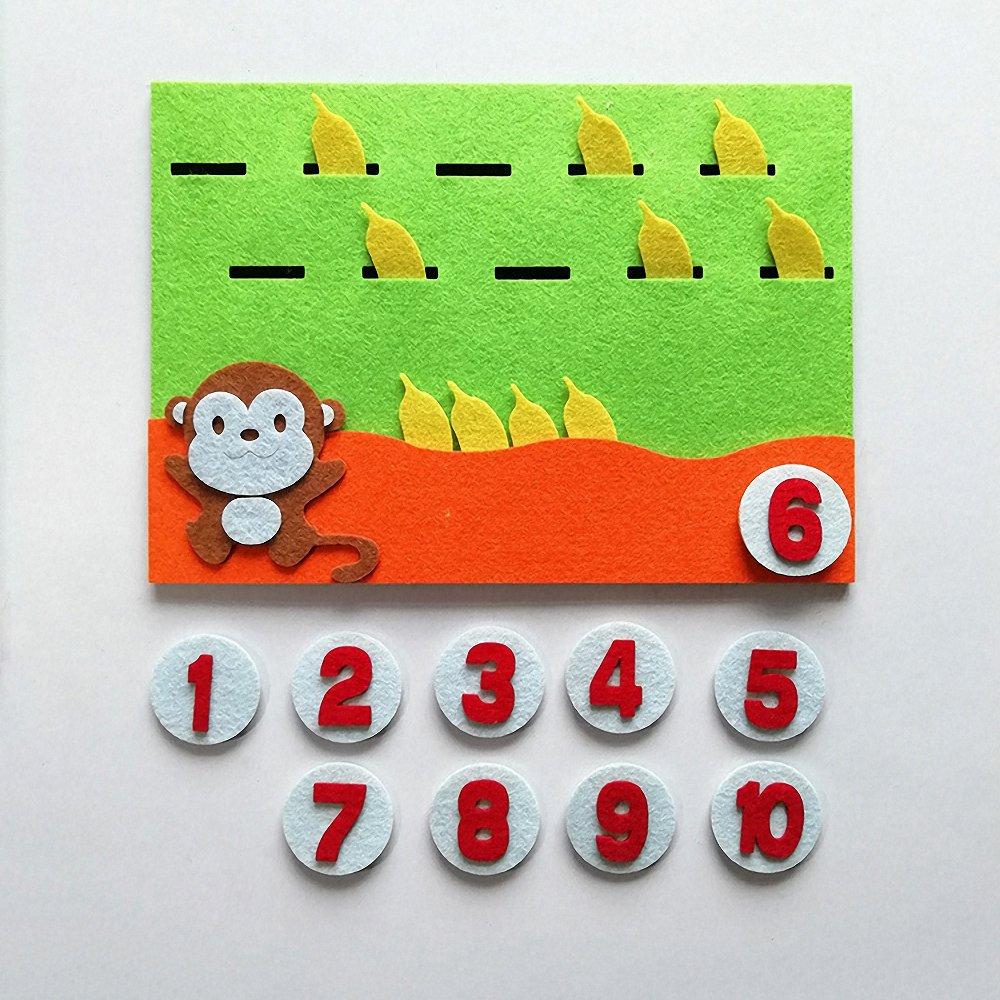 Kids Montessori Toys Learning Toy DIY Weave Cloth Montessori Materials Math Toy Digital Educational Toy Preschool Teaching Aids
