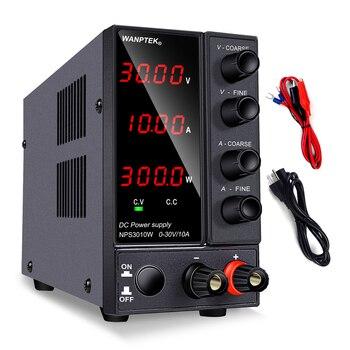DC power supply adjustable Bench Source 30V 10A Voltage regulator laboratory VARIABLE stabilizer switching dc power 60V 5A diy wanptek dps3010u 305u 605u switching dc power supply adjustable 4 digit lab bench power source 30v 10a 30v 5a 0 01v 0 001a ac