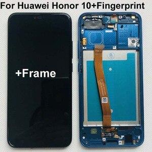 Image 1 - Plein Original nouveau pour Huawei Honor 10 COL L29 écran LCD + écran tactile numériseur assemblée remplacement + empreinte digitale + cadre 5.84