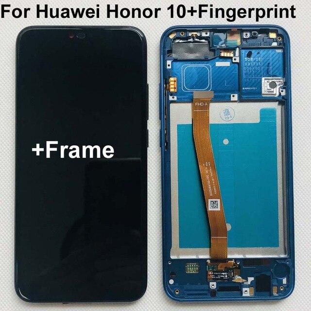 Plein Original nouveau pour Huawei Honor 10 COL L29 écran LCD + écran tactile numériseur assemblée remplacement + empreinte digitale + cadre 5.84