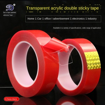 Acrylic Double-Sided Tape 0.5mm Thin Transparent Double-Sided Tape Car Stickers Tape Household Wall Adhesive Double-Sided Tapes
