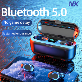 Mini TWS Bluetooth 5.0 Earphones Wireless Headphones 9D Hifi Stereo Sports Waterproof Wireless Earphone Headset With Microphone
