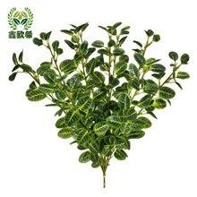 Xin ou modelo grego folha de oliva pequena única garrafa arranjo flor decorativo grama boquet casamento titular decoração pote falso