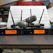 Тюра разнесенный приемник 615-675 МГц Ручной UHF двойной SKM9000 караоке KTV профессиональный сценический беспроводной микрофон
