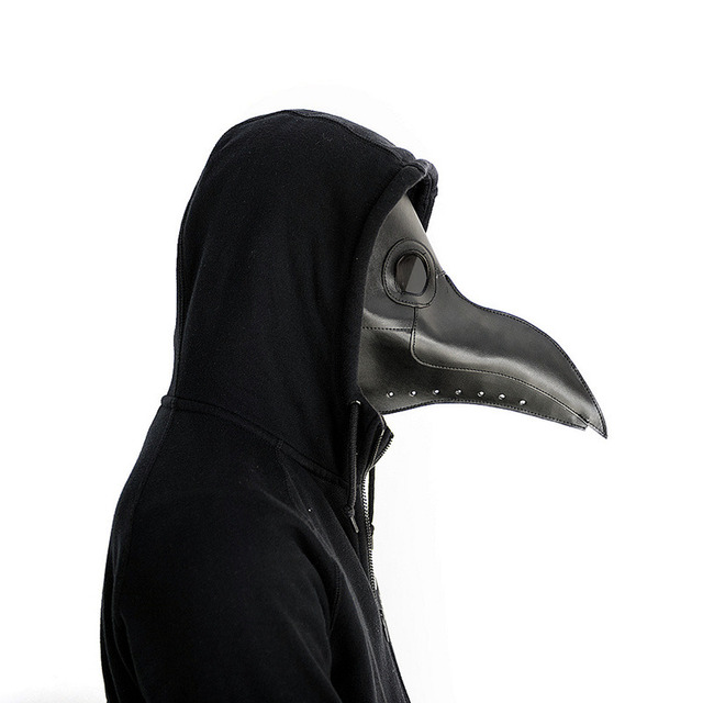 New Cosplay Steampunk plague doctor mask Bird Mask White/Black Latex Bird Beak Masks Long Nose Halloween Party Event Ball Cost