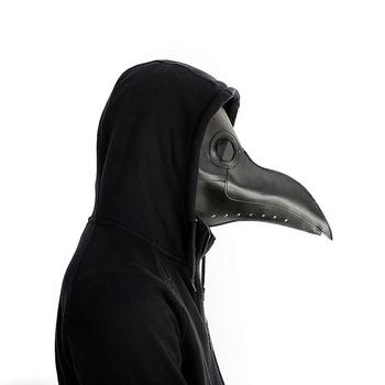Nowy Cosplay Steampunk plaga ptak maska biały czarny lateks ptak dziób maski długi nosek impreza z okazji Halloween Event Ball koszt tanie i dobre opinie SexeMara Unisex Dla dorosłych Kostiumy plague doctor ZL 201730584181 1