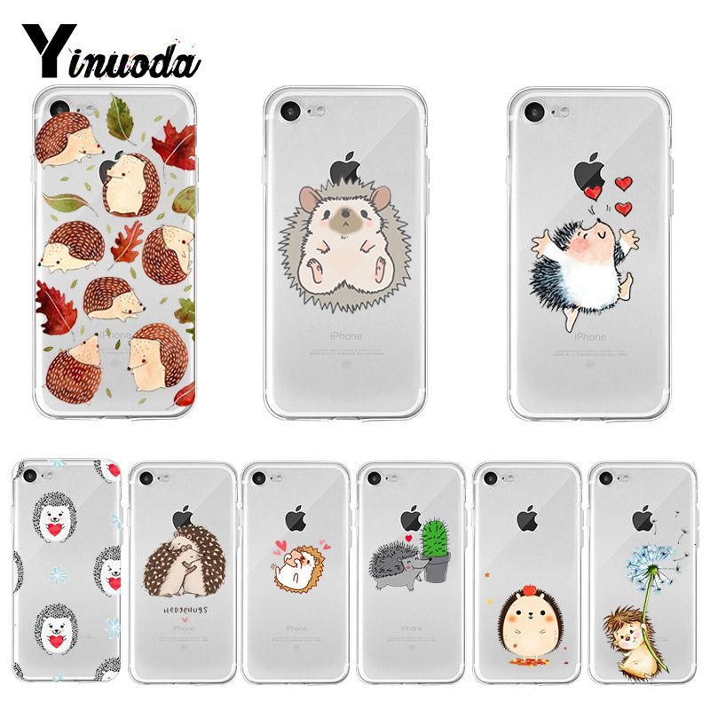 Yinuoda <font><b>Kawaii</b></font> Hedgehog Heart 2018 Hot Selling Fashion <font><b>phone</b></font> <font><b>case</b></font> cover for <font><b>iPhone</b></font> 8 <font><b>7</b></font> 6 6S Plus X XS max 10 5 5S SE XR image