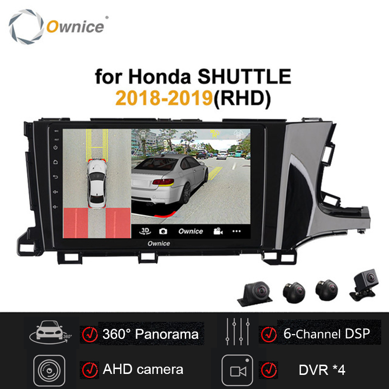 """Ownice 9"""" 2 din Android 9.0 Car Radio Stereo for Honda SHUTTLE 2018 2019 RHD O Car DVD GPS player DVR 360 Panorama DSP SPDIF"""