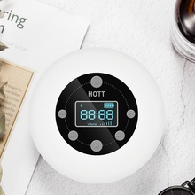 FFYY HOTT Mini Bluetooth Wireless Waterproof Shower Speaker with Suction Cup Time Digital Display FM Radio Mic Handsfree Steore