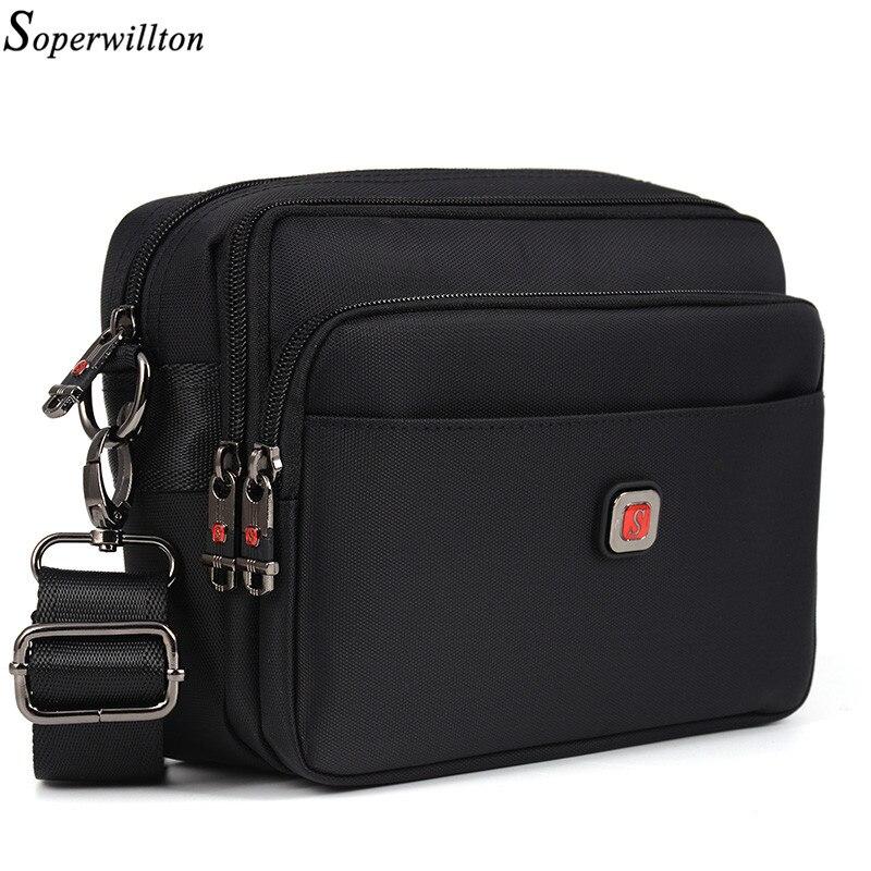 Soperwillton Men's Bag Male Bag Brand Bag Men Oxford Messenger Bag Crossbody Man Famous Brand Design Black Bolsa Masculina #1053(China)