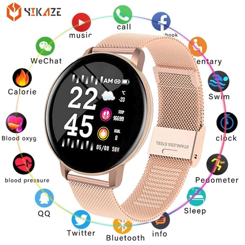 Permalink to Smart Watch Round Women Waterproof Smartwatch Men Women Fitness Tracker Blood Pressure Monitor for Android IOS Smart Clock PK P8