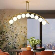 Скандинавская Современная золотая металлическая люстра лампа