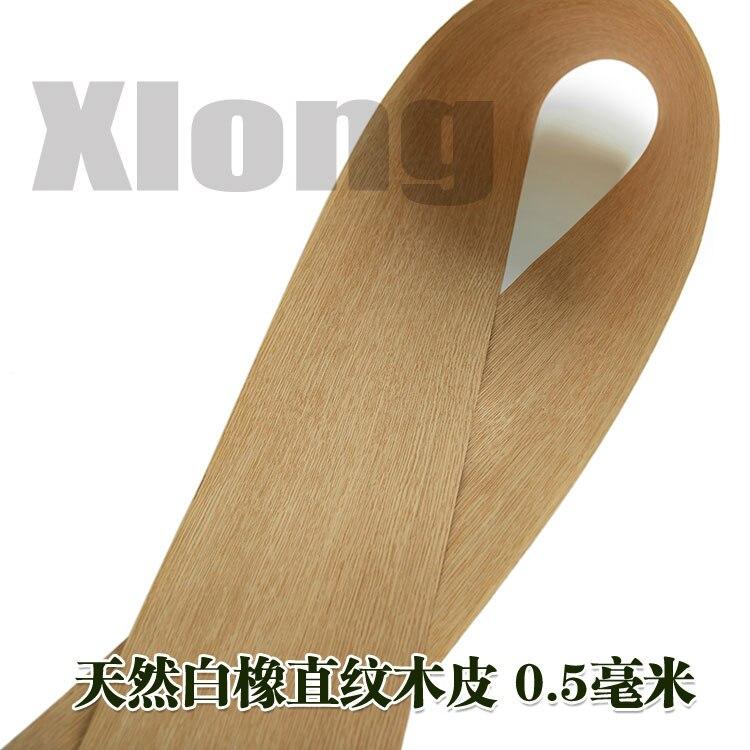L:2.7Meters Width:180mm Thickness:0.2mm White Oak Straight Grain Veneer Natural Solid Wood Veneer USA