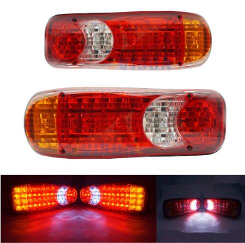 1pc Truck Light 12V Car 46 LED Stop Rear Tail Indicator Reverse Fog Lamp Tail Lights Waterproof Truck Light For Trailer Trucks