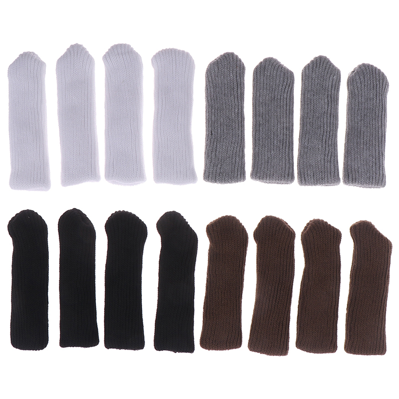 4PCS Durable Home Furniture Safety Elastic Hardwood Floors Chair Leg Solid, Floral Floor Protector
