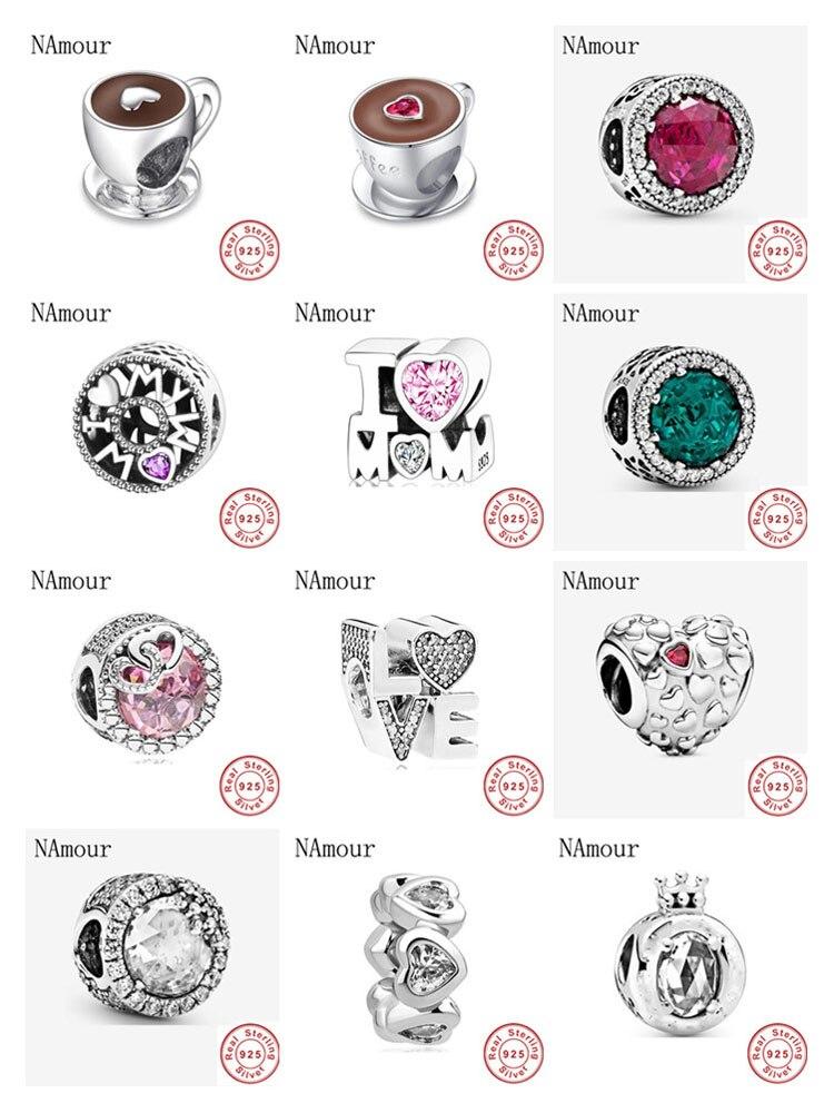 Женский браслет из бисера i love mom love, розовый и белый цвета, браслет из серебра 925 пробы, модные ювелирные изделия