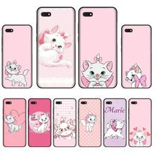 Pink marie aristocats Newly Arrived Black Cell Phone Case For Huawei Honor 7C 7A 8X 8A 9 10 10i Lite 20 NOVA 3i 3e for huawei honor mate 7c 7a 8 8x 9 9n 10 20 nova 3 3e 3i pro lite black silicon phone case adventure time style