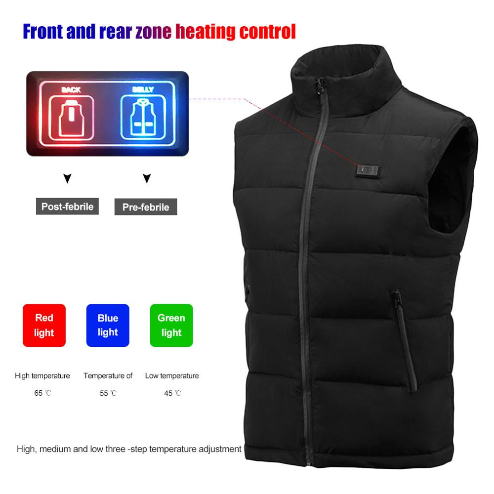 Winter USB Infrared Heating Vest Jacket Electric Thermal Clothing Waistcoat For Women Men Outdoor Hiking Camping Cycling Ski