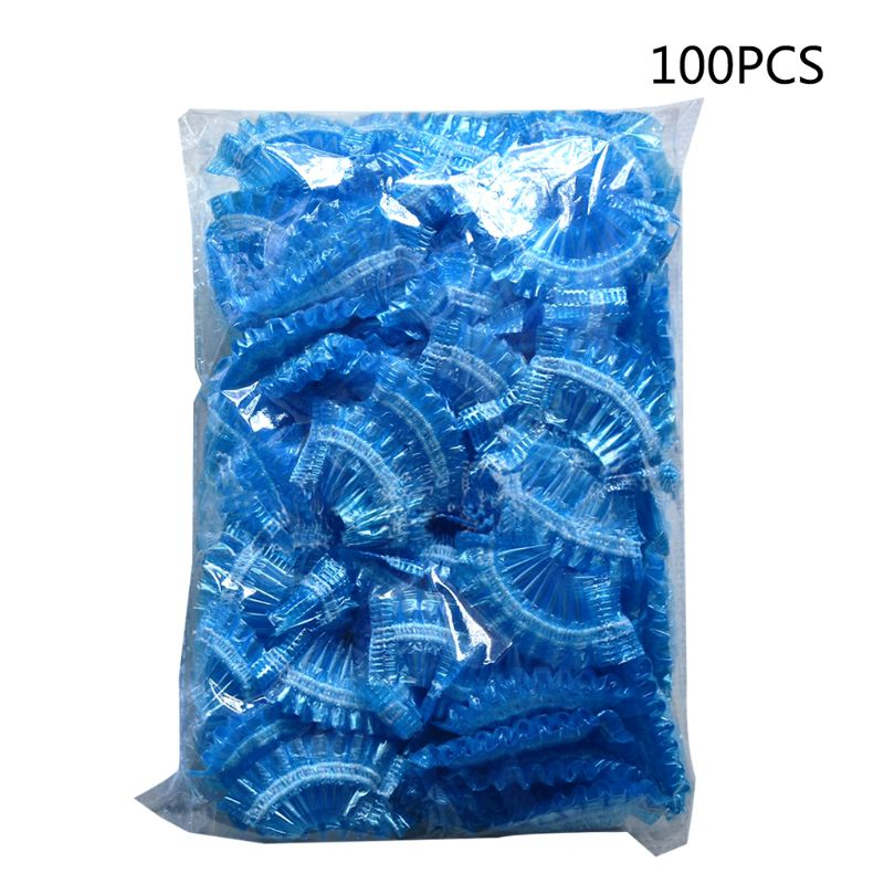 100Pcs Thickened Disposable Plastic Waterproof Ear Protector Cover Cap Salon Hairdressing Dye Shield Earmuffs Shower Tool