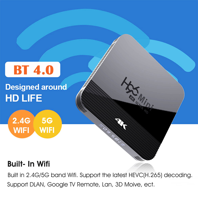 H96 MINI H8 Android TV Box RK3228A 2G RAM 16G ROM 5G WIFI bluetooth 4,0 9,0 4K Stimme Steuerung Unterstützung HD Netflix Youtube