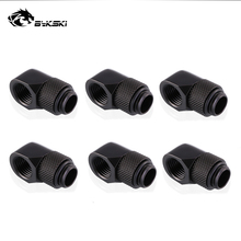 6pcs/lot G1/4 90 Rotary Compression fitting 90 degree Rotary Fitting water cooling Adaptors Metal Connector