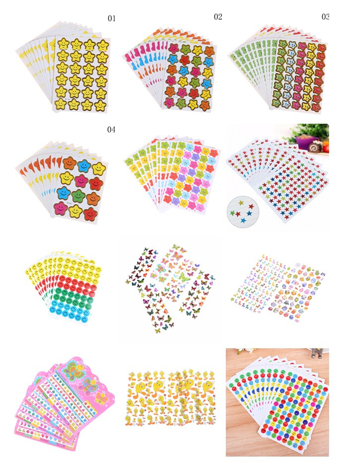 1/2/3/5/10sheets  Little Star Sticker School Kids Teacher RewardsHot Smile  Encouragement Label Reward Craft DIY Toys
