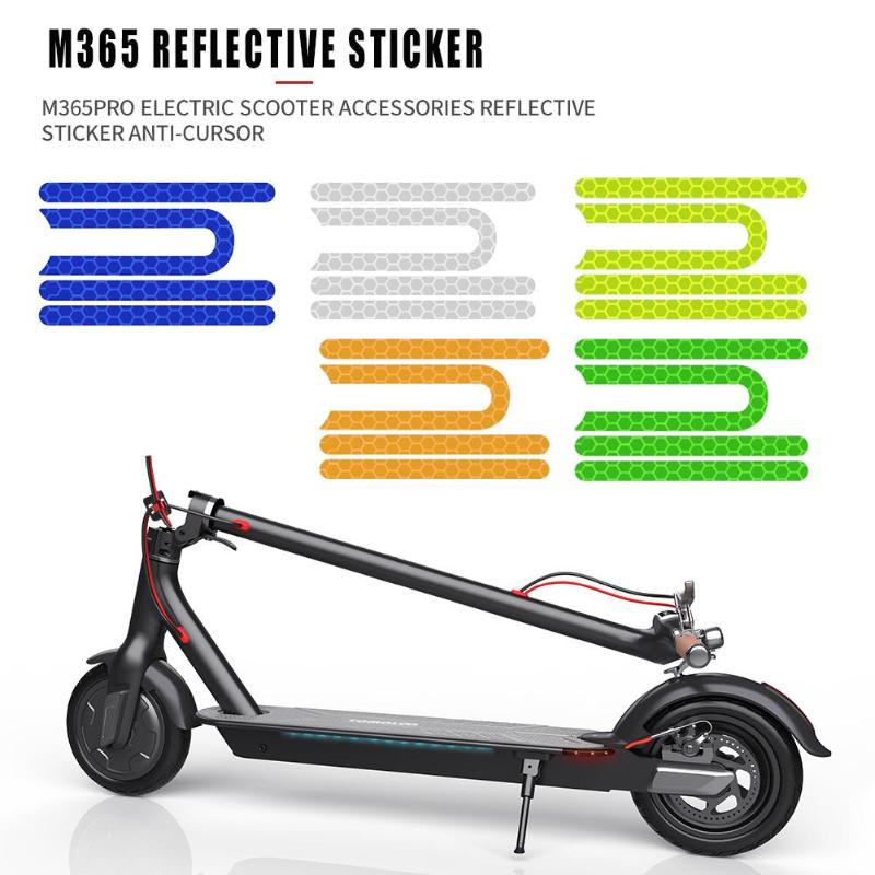 Electric <font><b>Scooter</b></font> Skateboard Front Rear Wheel Tire Covers Protective Shell Reflective <font><b>Stickers</b></font> for Xiaomi M365 Pro Cycling Parts image