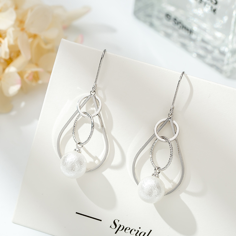 TS-ED011 High Quality 925 Sterling Silver Fine Jewelry Spain Version Bear Jewelry Women's Earrings Wholesale Price Free Shipping