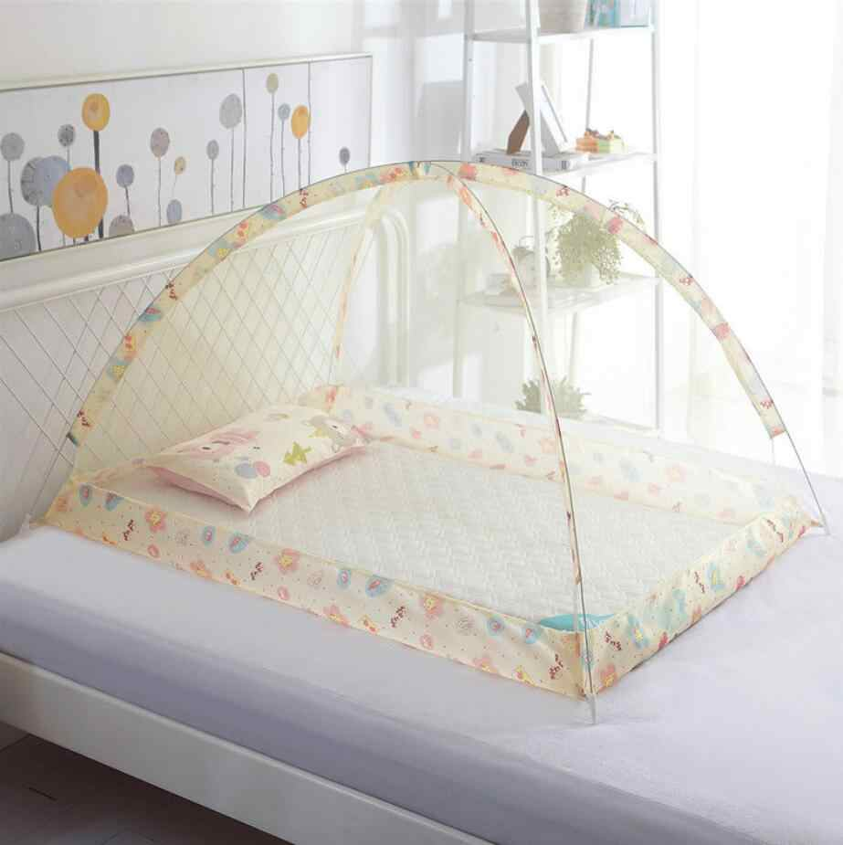 Schöne Cartoon Faltbare Moskito Net Für Kinder Kinder Bett Zelt 90*120*70cm Sommer Tragbare Jurten Baby moskito Netting Baldachin