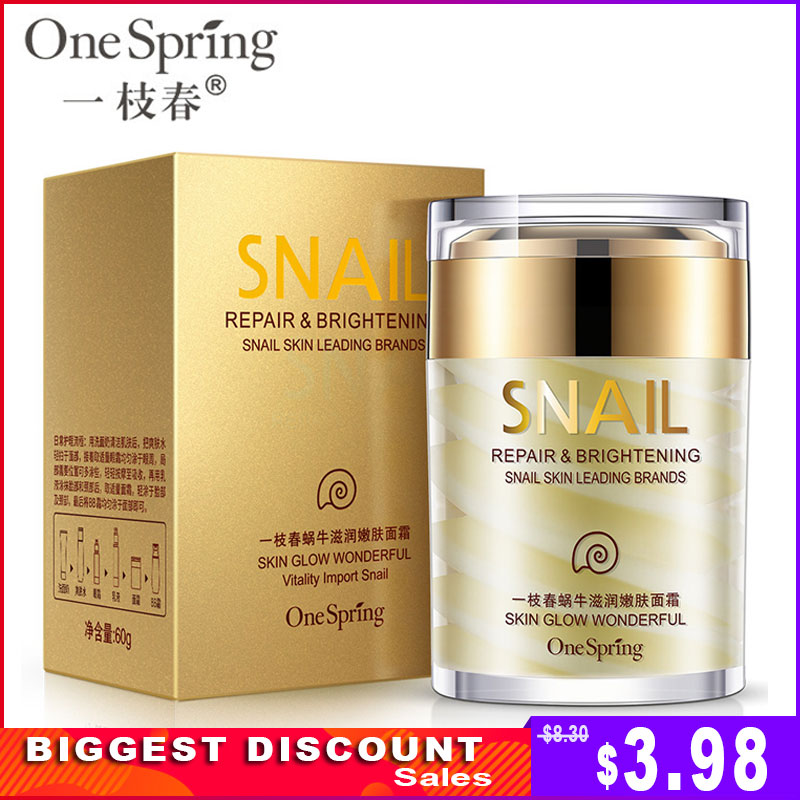 Onespring Snail-Cream Skin-Care Acne-Treatment Nourishing Moisturizer-Repair Anti-Wrinkle
