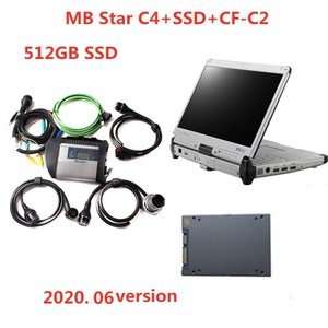 Image 1 - Top Quality MB Star DiagnosisC4 SD Connect compact 4 with SSD  installed CF C2 CF C2 I5 Toughbook  Diagnostic Tool for Car Truck