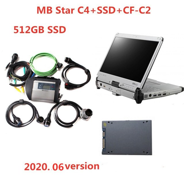 Top Quality MB Star DiagnosisC4 SD Connect compact 4 with SSD  installed CF C2 CF C2 I5 Toughbook  Diagnostic Tool for Car Truck