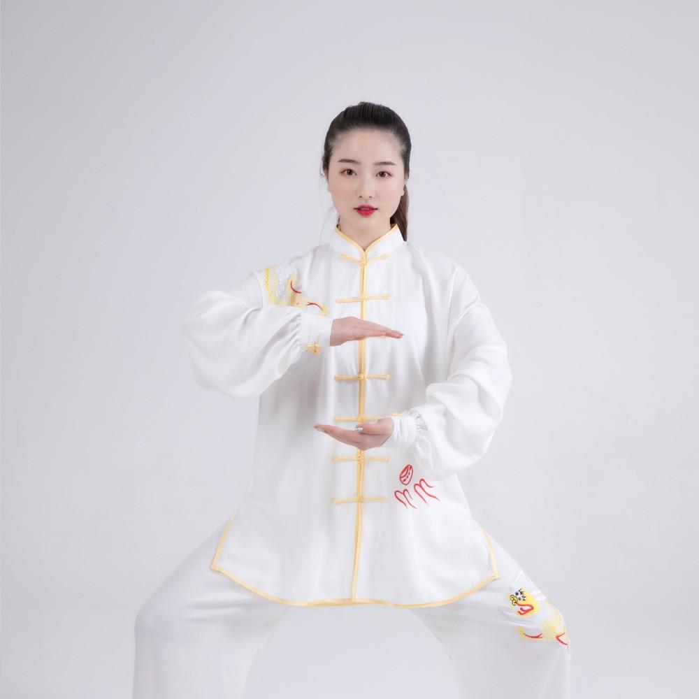 Bjj Judo Kimono Jiu Jitsu Hakama Hakama Taichi Chinese Traditional Kungfu Uniform With  Embroidery For Woman Embroidery Dragon