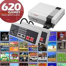 Retro consoles de jogos de vídeo 620 jogos dois controle alça mini handheld game console av linha suporte tv dupla gamepad jogador jogos