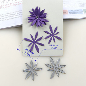 Image 5 - Металлические Вырубные штампы duрождения 2019, новые виды 3D цветов, трафарет для рукоделия, бумажных проектов, альбомов для скрапбукинга