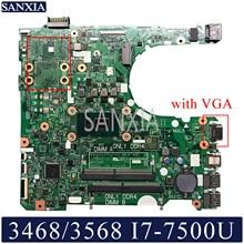 цена на KEFU 17841-1 Laptop motherboard for Dell 3568 3468 original mainboard I7-7500U with VGA