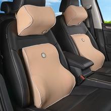цена на Universal car Pillow cushion back pillow car Seat pillow lumbar support for office chair cushion for car Auto 3D Memory Foam